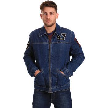 Oblačila Moški Jeans jakne Wrangler W4580512L Modra