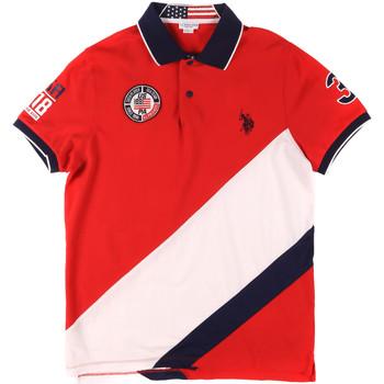 Oblačila Moški Polo majice kratki rokavi U.S Polo Assn. 43771 41029 Rdeča