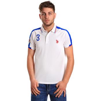 Oblačila Moški Polo majice kratki rokavi U.S Polo Assn. 43770 41029 Biely