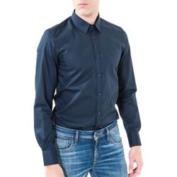 Oblačila Moški Srajce z dolgimi rokavi Antony Morato MMSL00362 FA400042 Modra