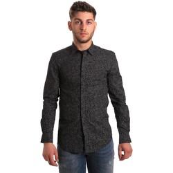 Oblačila Moški Srajce z dolgimi rokavi Antony Morato MMSL00428 FA430302 Črna