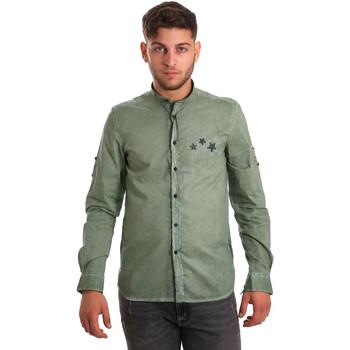 Oblačila Moški Srajce z dolgimi rokavi Antony Morato MMSL00452 FA400014 Zelena