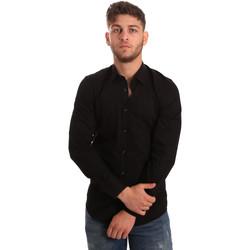 Oblačila Moški Srajce z dolgimi rokavi Antony Morato MMSL00472 FA450001 Črna