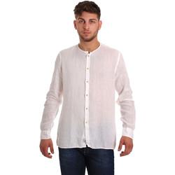 Oblačila Moški Srajce z dolgimi rokavi Gaudi 811BU45022 Biely