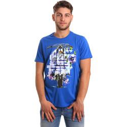 Oblačila Moški Majice s kratkimi rokavi Gaudi 811BU64154 Modra