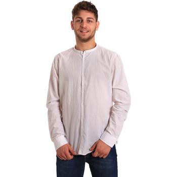 Oblačila Moški Srajce z dolgimi rokavi Gaudi 811FU45020 Biely