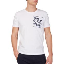 Oblačila Moški Majice s kratkimi rokavi Gas 542990 Biely
