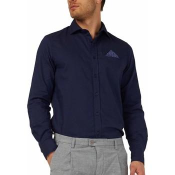 Oblačila Moški Srajce z dolgimi rokavi Gas 151131 Modra