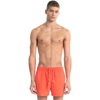 Oblačila Moški Kopalke / Kopalne hlače Calvin Klein Jeans KM0KM00162 Rdeča