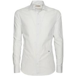 Oblačila Moški Srajce z dolgimi rokavi NeroGiardini P873051U Biely