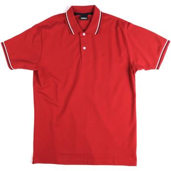 Oblačila Moški Polo majice kratki rokavi Key Up 2Q70G 0001 Rdeča