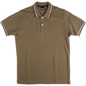 Oblačila Moški Polo majice kratki rokavi Key Up 2Q70G 0001 Zelena