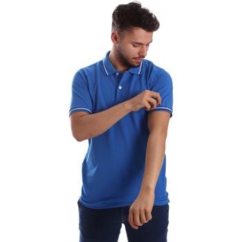 Oblačila Moški Polo majice kratki rokavi Key Up 2Q70G 0001 Modra