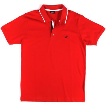 Oblačila Moški Polo majice kratki rokavi Key Up 2Q711 0001 Rdeča