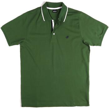 Oblačila Moški Polo majice kratki rokavi Key Up 2Q711 0001 Zelena