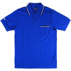 Oblačila Moški Polo majice kratki rokavi Key Up 2Q827 0001 Modra