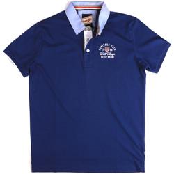 Oblačila Moški Polo majice kratki rokavi Key Up 2G85R 0001 Modra