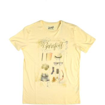 Oblačila Moški Majice s kratkimi rokavi Key Up 2G84S 0001 Rumena