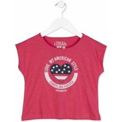 Oblačila Deklice Majice s kratkimi rokavi Losan 814-1023AB Roza