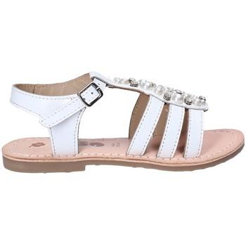 Čevlji  Deklice Sandali & Odprti čevlji Asso 65952 Biely