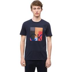 Oblačila Moški Majice s kratkimi rokavi Calvin Klein Jeans K10K102690 Modra