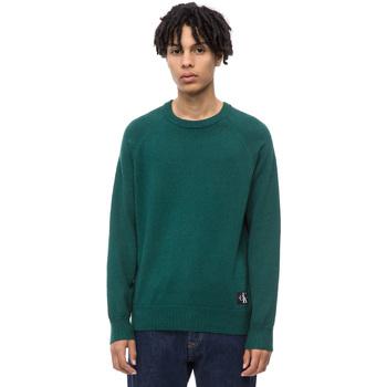 Oblačila Moški Puloverji Calvin Klein Jeans J30J309563 Zelena