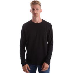 Oblačila Moški Majice z dolgimi rokavi Gas 300187 Črna