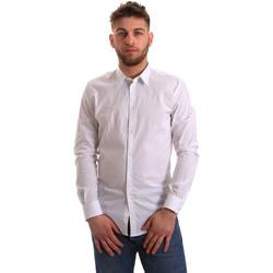 Oblačila Moški Srajce z dolgimi rokavi Gaudi 821BU45014 Biely