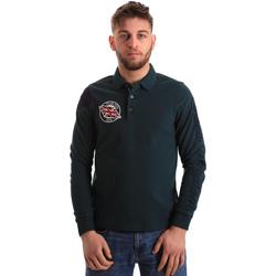 Oblačila Moški Polo majice dolgi rokavi U.S Polo Assn. 50615 47773 Zelena