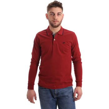 Oblačila Moški Polo majice dolgi rokavi Key Up 2RG71 0001 Rdeča