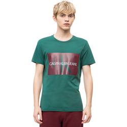 Oblačila Moški Majice s kratkimi rokavi Calvin Klein Jeans J30J307843 Zelena