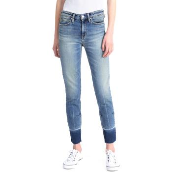 Oblačila Ženske Kavbojke slim Calvin Klein Jeans J20J208060 Modra