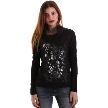 Oblačila Ženske Majice z dolgimi rokavi Key Up 5VG84 0001 Črna