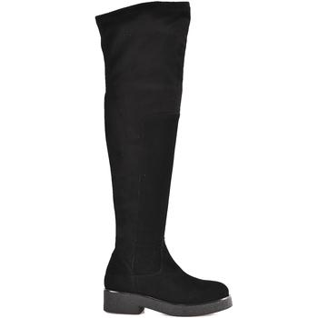 Čevlji  Ženske Visoki škornji Mally 6311 Črna