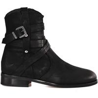 Čevlji  Ženske Gležnjarji Mally 6431 Črna