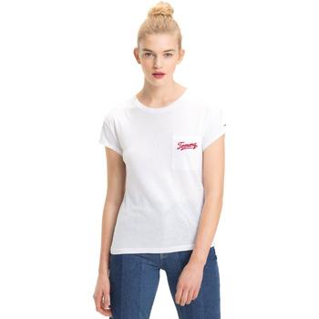 Oblačila Ženske Majice s kratkimi rokavi Tommy Hilfiger DW0DW05385 Biely