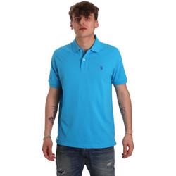 Oblačila Moški Polo majice kratki rokavi U.S Polo Assn. 55957 41029 Modra