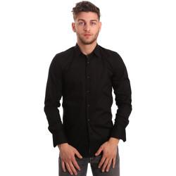 Oblačila Moški Srajce z dolgimi rokavi Antony Morato MMSL00375 FA450001 Črna