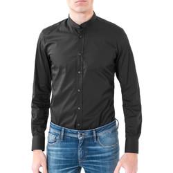 Oblačila Moški Srajce z dolgimi rokavi Antony Morato MMSL00376 FA450001 Črna