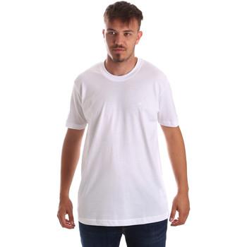 Oblačila Moški Majice s kratkimi rokavi Key Up 2M915 0001 Biely