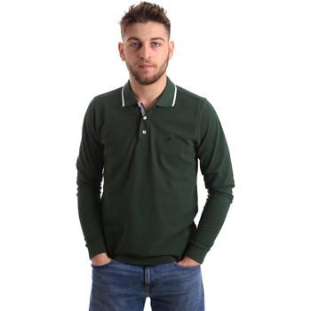 Oblačila Moški Polo majice dolgi rokavi Key Up 2L711 0001 Zelena