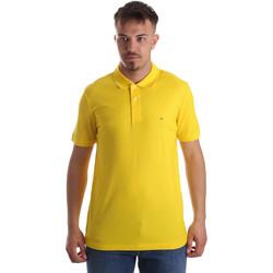 Oblačila Moški Polo majice kratki rokavi Calvin Klein Jeans K10K102758 Rumena