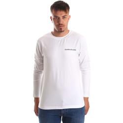 Oblačila Moški Majice z dolgimi rokavi Calvin Klein Jeans J30J310489 Biely