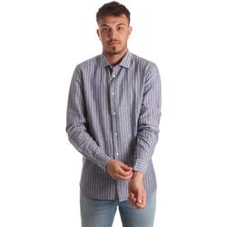 Oblačila Moški Srajce z dolgimi rokavi Antony Morato MMSL00520 FA420069 Modra