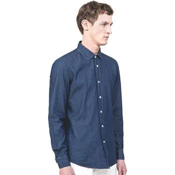 Oblačila Moški Srajce z dolgimi rokavi Antony Morato MMSL00520 FA440019 Modra