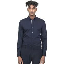Oblačila Moški Srajce z dolgimi rokavi Antony Morato MMSL00523 FA450001 Modra