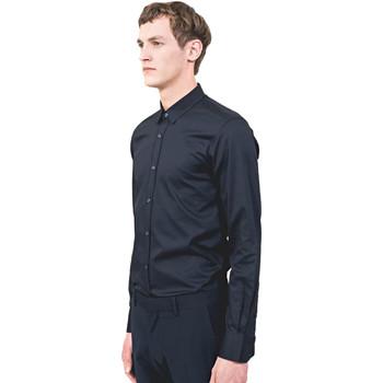 Oblačila Moški Srajce z dolgimi rokavi Antony Morato MMSL00525 FA440012 Modra