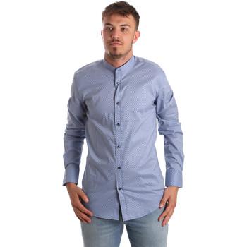 Oblačila Moški Srajce z dolgimi rokavi Antony Morato MMSL00526 FA430086 Modra