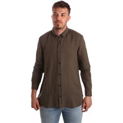 Oblačila Moški Srajce z dolgimi rokavi Antony Morato MMSL00530 FA400051 Rjav