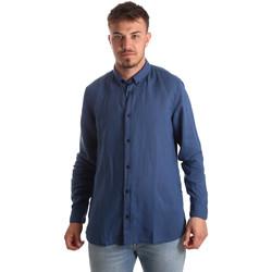 Oblačila Moški Srajce z dolgimi rokavi Antony Morato MMSL00530 FA400051 Modra